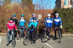 Radgruppe beim Nachwuchstraining im Februar 2019