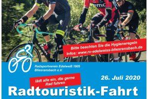 Radtouristik-Fahrt 2020
